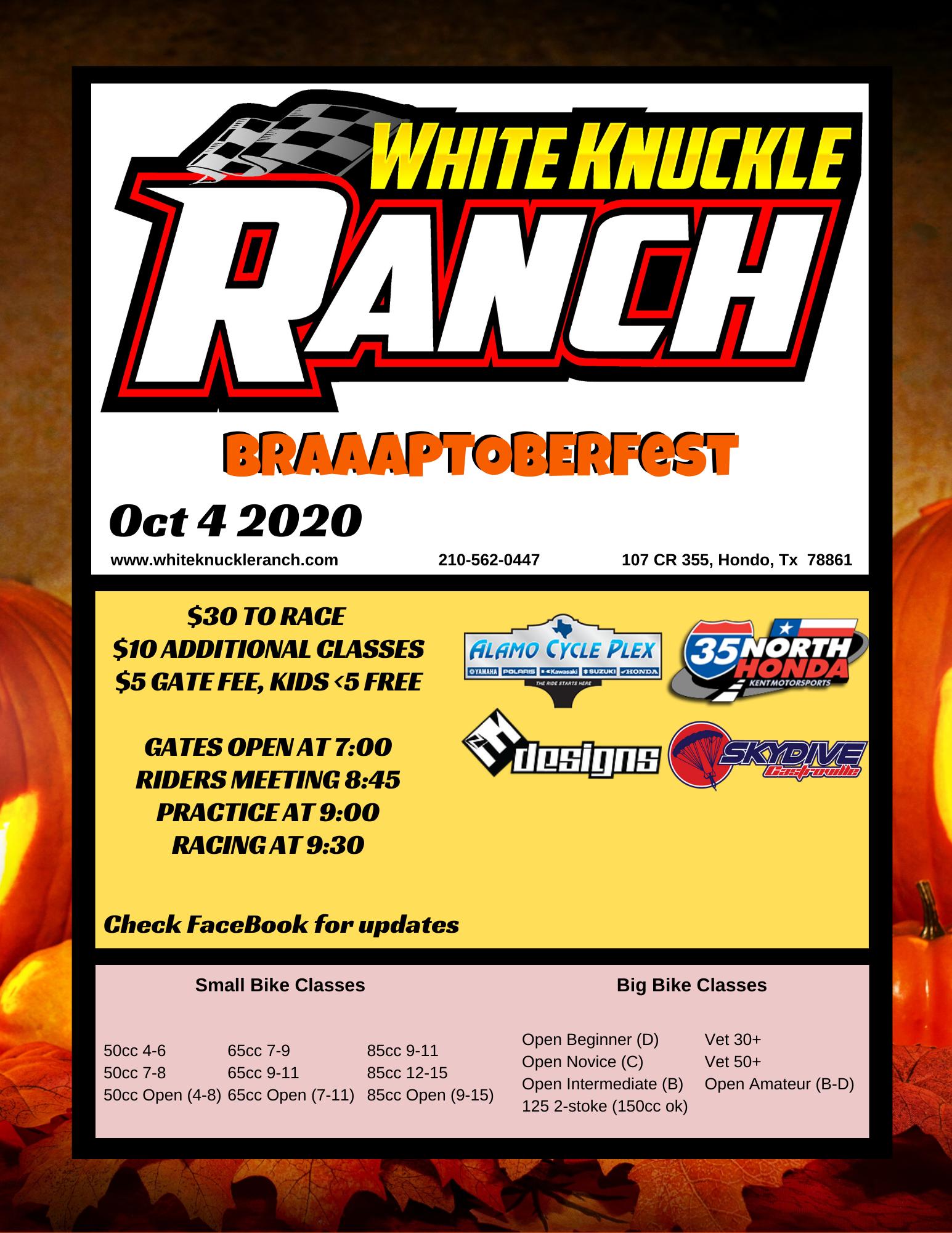 Oct 2020 Race